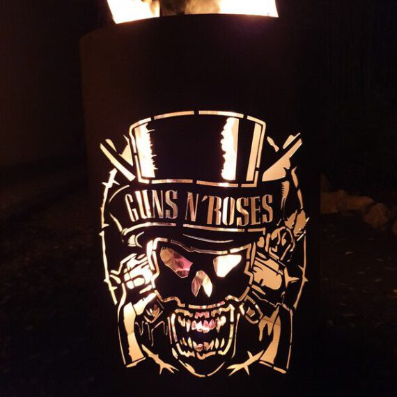 Coole Feuertonne / Feuerkorb mit Motiv  Guns n Roses